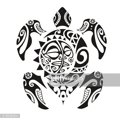 Tatouage Tortue Maori Illustration Vectorielle Eps10 Premium Clipart