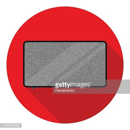 LCD television icon in flat style isolated on white background.