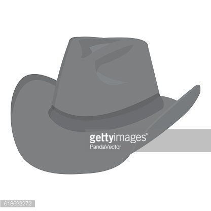 Cowboy hat icon monochrome. Singe western icon from the wild