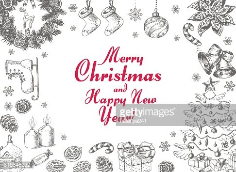 Vector background with Christmas elements