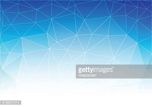 Blue White Light Polygonal Mosaic Background, Vector