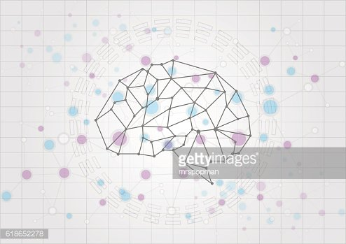abstract brain technology concept background. vector