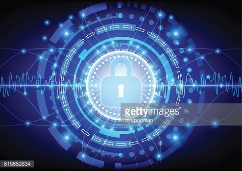 Protection concept of digital and technology. illustration