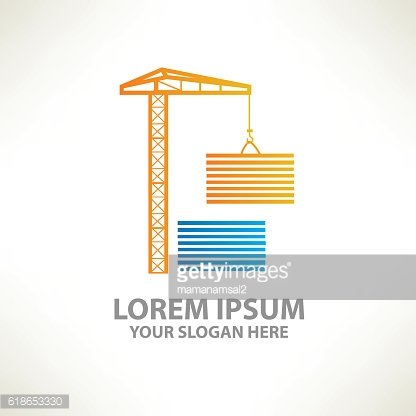 Container design on clean background,vector