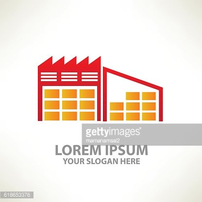 Warehouse design on clean background,vector