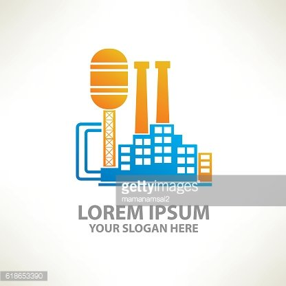 Industry design on clean background,vector