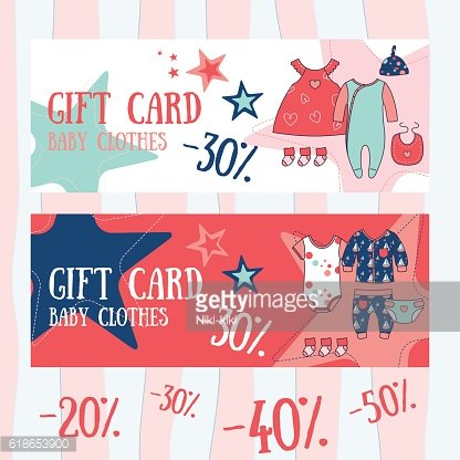 Gift card. Baby shop