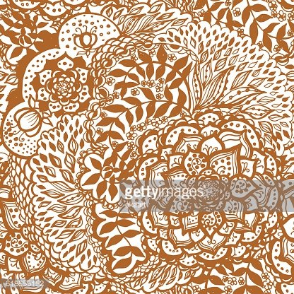 Floral doodle seamless wallpaper pattern.