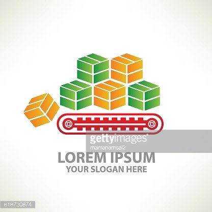 Box,cargo design on clean background,vector