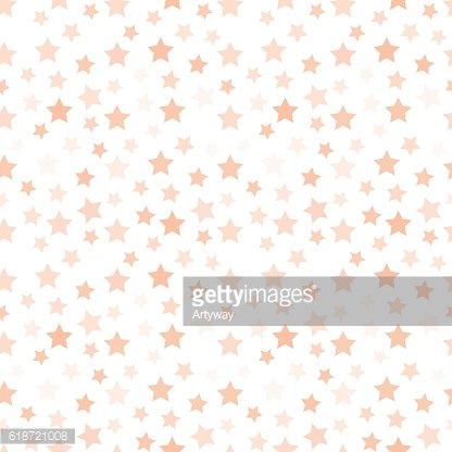 Isolated pale pink color stars on the white background pattern