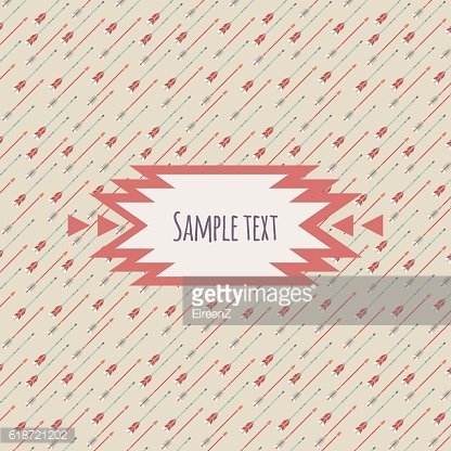 Vector card with ethnic arrow pattern and place for text