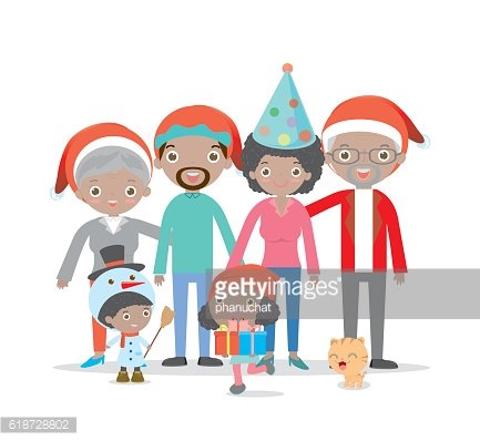 big christmas family together,children,kids,mother, father, girl, boy