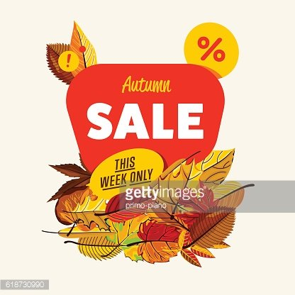 Autumn sale banner. This week only.