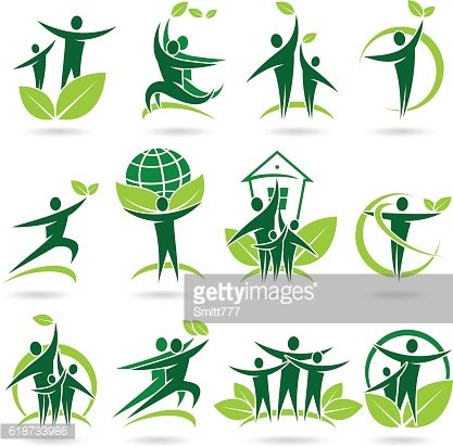 People collection ecology icons and elements