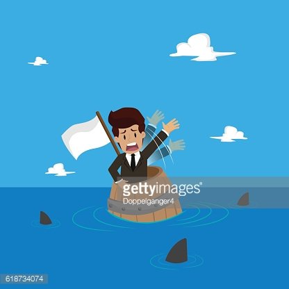 Businessman Was left in the middle of the sea