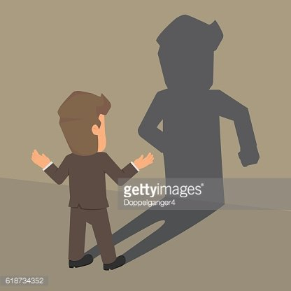The Businessman Consult a shadow of his identity