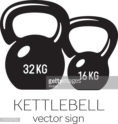 Kettlebell 32 and 16 kg.