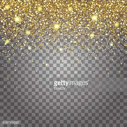 Effect of flying parts gold glitter luxury rich design background