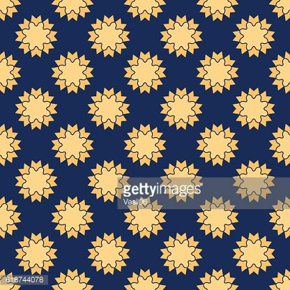 Vector geometric pattern. Seamless texture of yellow - sand figures
