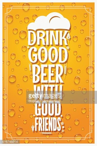 Beer Glass Logo Design Concept Slogan Background