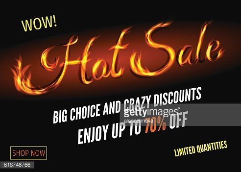 Hot sale poster design with sign from fire.