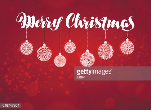 Merry Christmas banner. Xmas decoration vector illustration