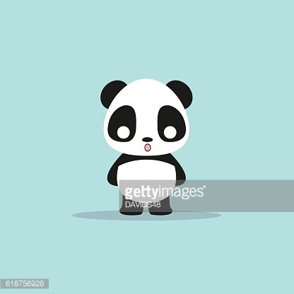abstract cute panda