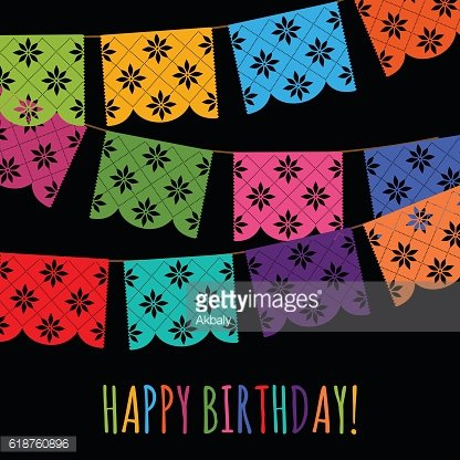 Cut Out Paper - Happy Birthday Composition.