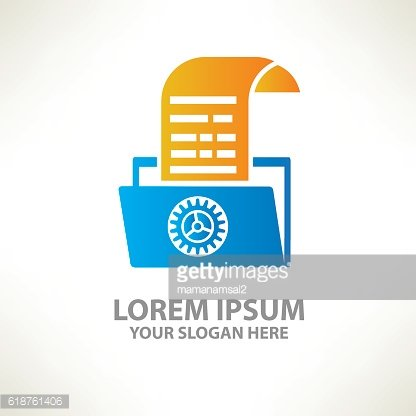 File design on clean background,vector