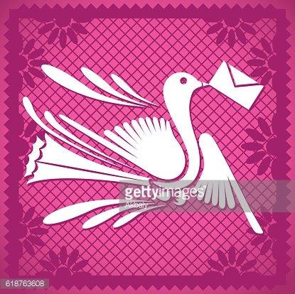 Cut Out Paper Composition – Message Bird Pink