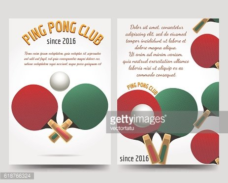 Ping pong flyers template
