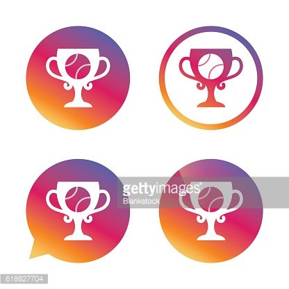 Baseball sign icon. Winner award cup symbol.