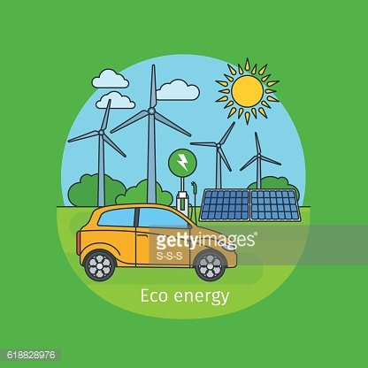 Eco energy concept with car