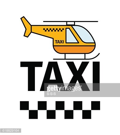 Helicopter taxi transport poster