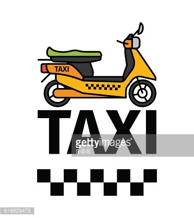 Scooter taxi transport poster