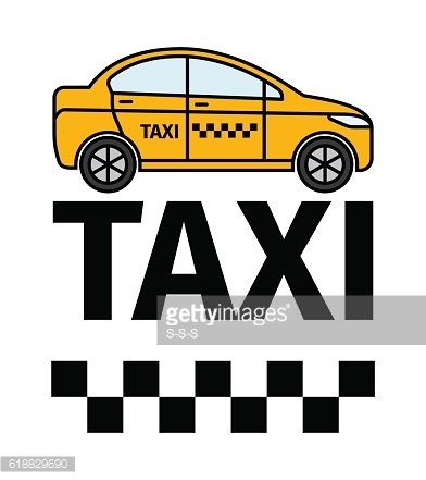 Taxicab transport advertising poster