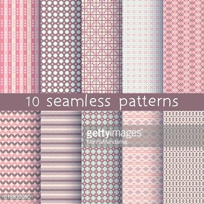 10 seamless patterns for universal background.