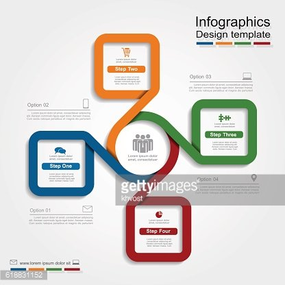 Infographic design with elements and icons. Vector illustration