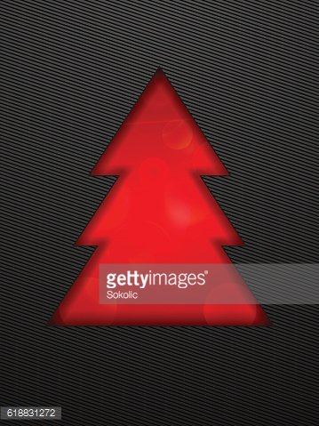 Creative Christmas tree cut in black background.