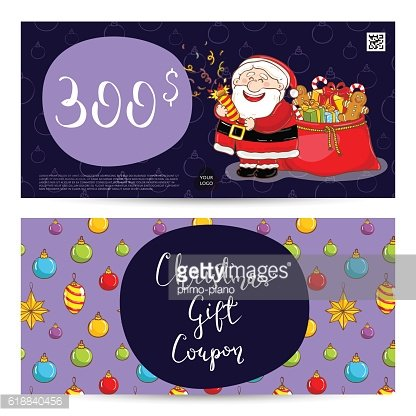 Christmas Gift Voucher with Prepaid Sum Template
