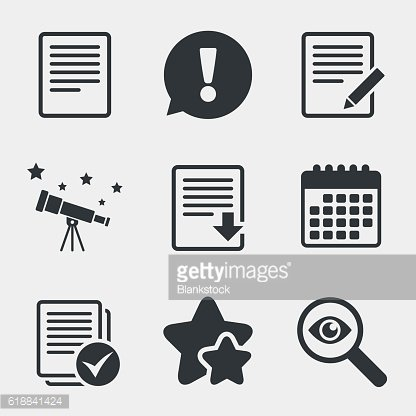 Document icons. Download file and checkbox.