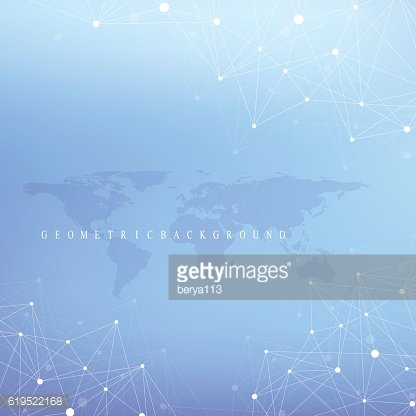 Graphic abstract background communication with world map. Vector illustration