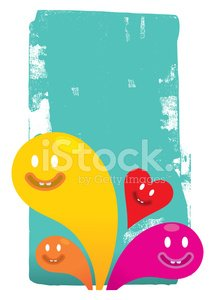 Bright abstract background characters