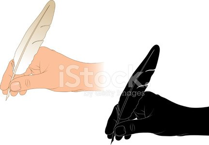 Hand with quill