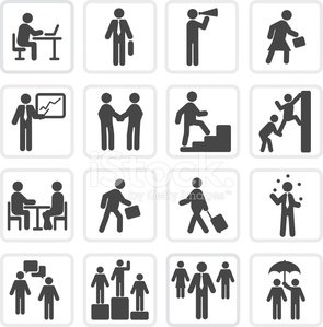 Black and white business and marketing icon series