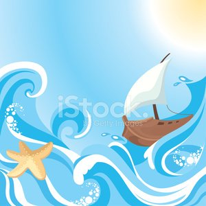 abstract vector sea background