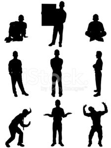 Isolated images of young businessman