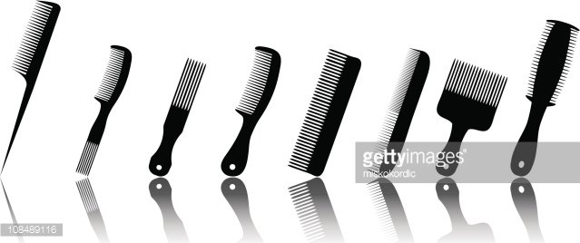 Cartoon Trendy Plastic Black Hair Comb Icon Isolated On White.. Royalty  Free Cliparts, Vectors, And Stock Illustration. Image 87861285.