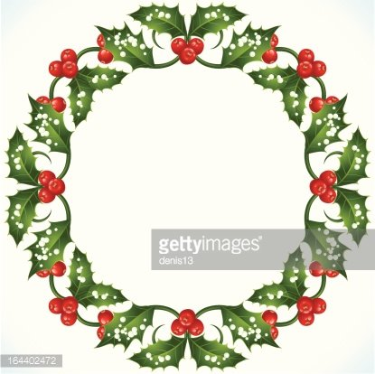 Christmas Frame Clipart.Holly Christmas Frame Premium Clipart Clipartlogo Com
