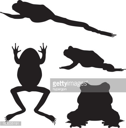 Frog Silhouette Clipart (#5703288) - PinClipart